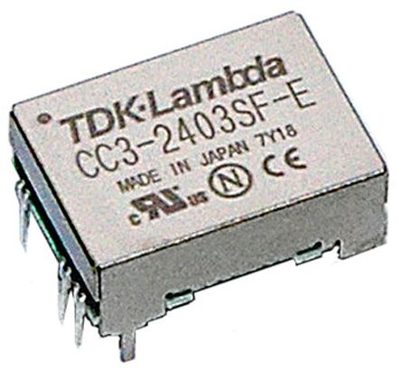 TDK-Lambda CC-E 3W Isolated DC-DC Converter Surface Mount, Voltage in 18 → 36 V dc, Voltage out 3.3V dc