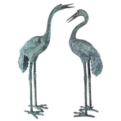 SU2075 Bronze Cranes Pair Large