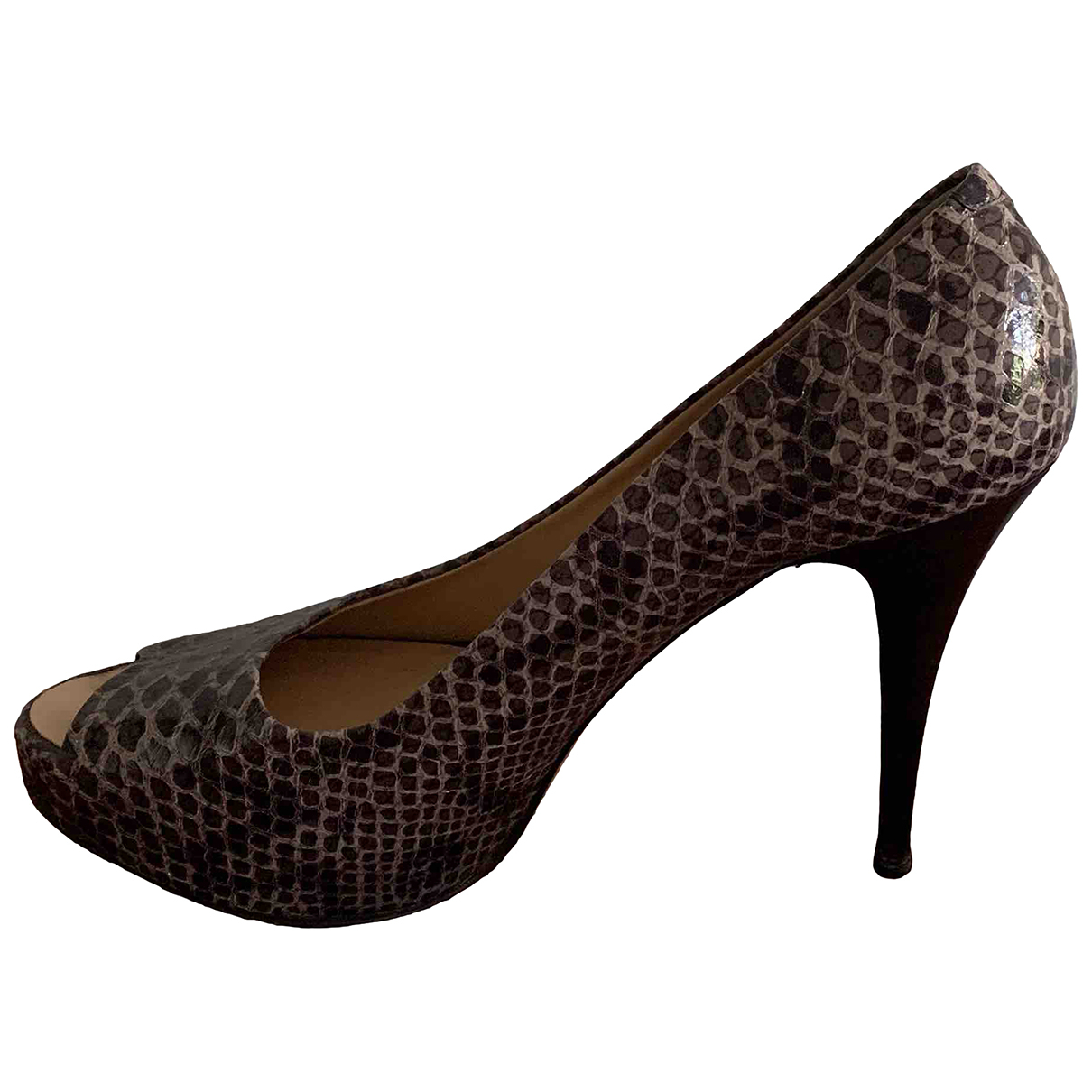Giuseppe Zanotti \N Grey Exotic leathers Heels for Women 40 EU
