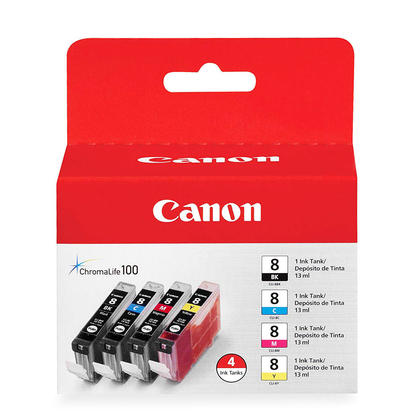 Canon CLI-8 Ink Cartridge Combo BK/C/M/Y (0620B010)