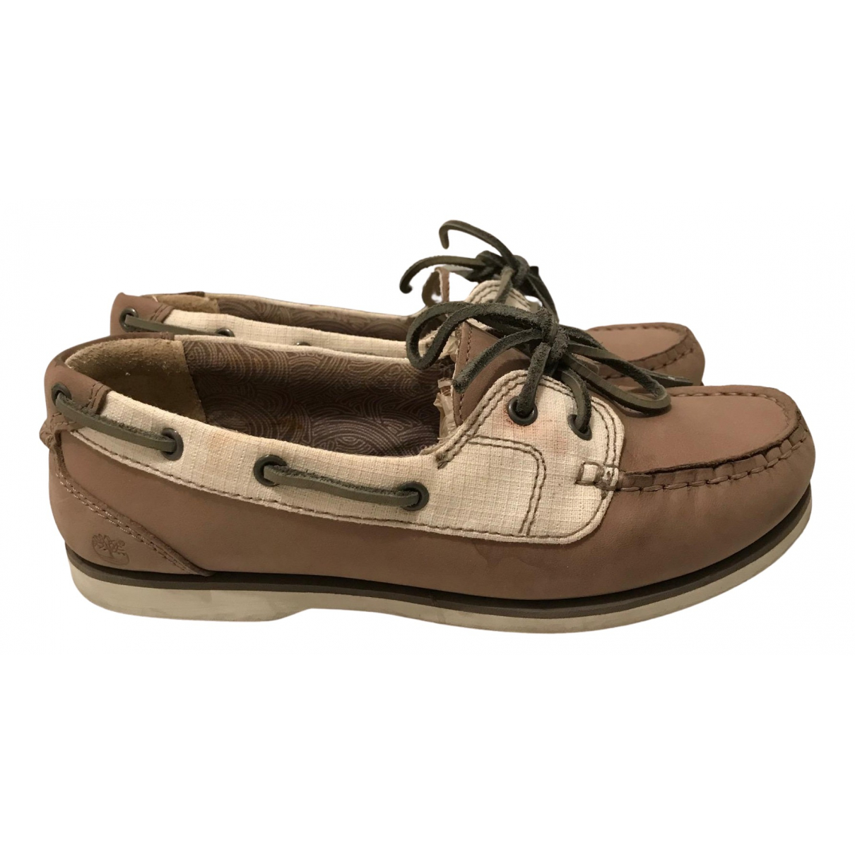 Timberland N Multicolour Leather Flats for Women 35.5 EU