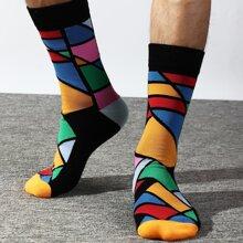 Calcetines de hombres de color combinado