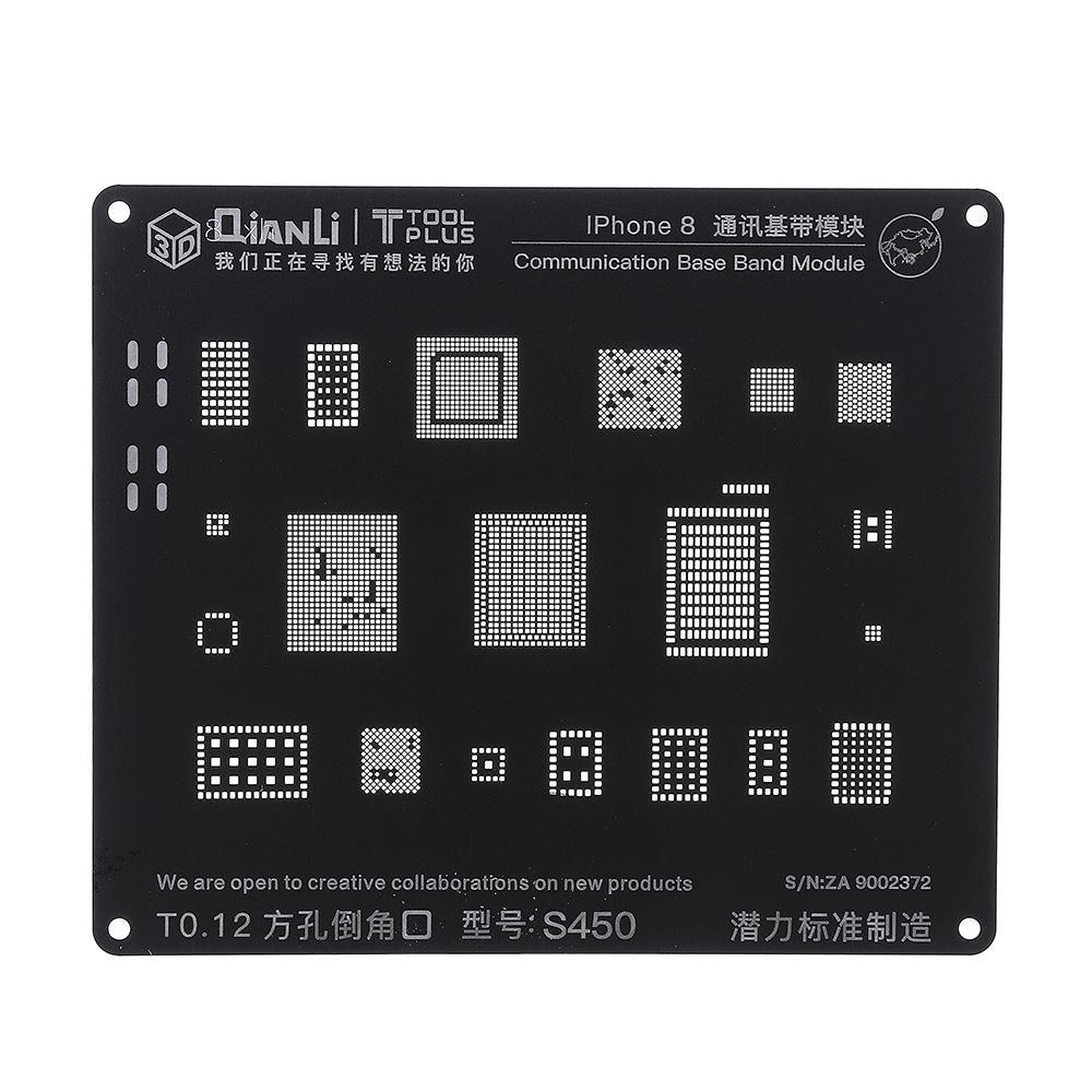 Qianli S450 3D BGA Reballing Stencil Communication Logic Module BGA Reballing Repair Tool for Phone 5 5S 6 6S 7G 7Plus 8