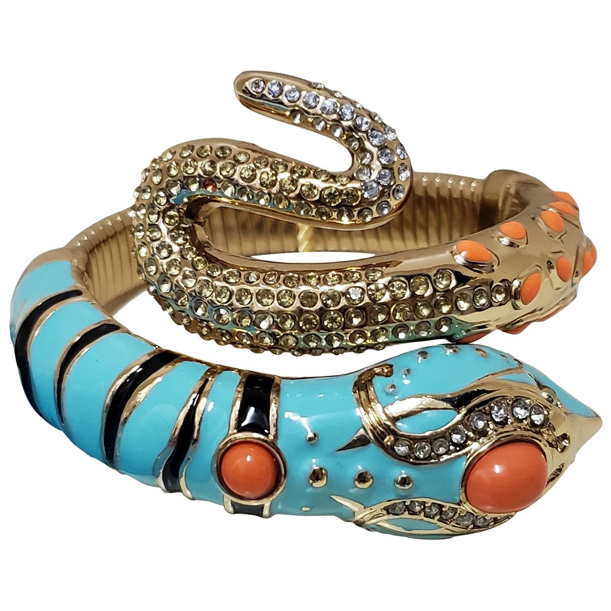 Anna Dello Russo Pour H&m - Bracelet   pour femme en metal - bleu