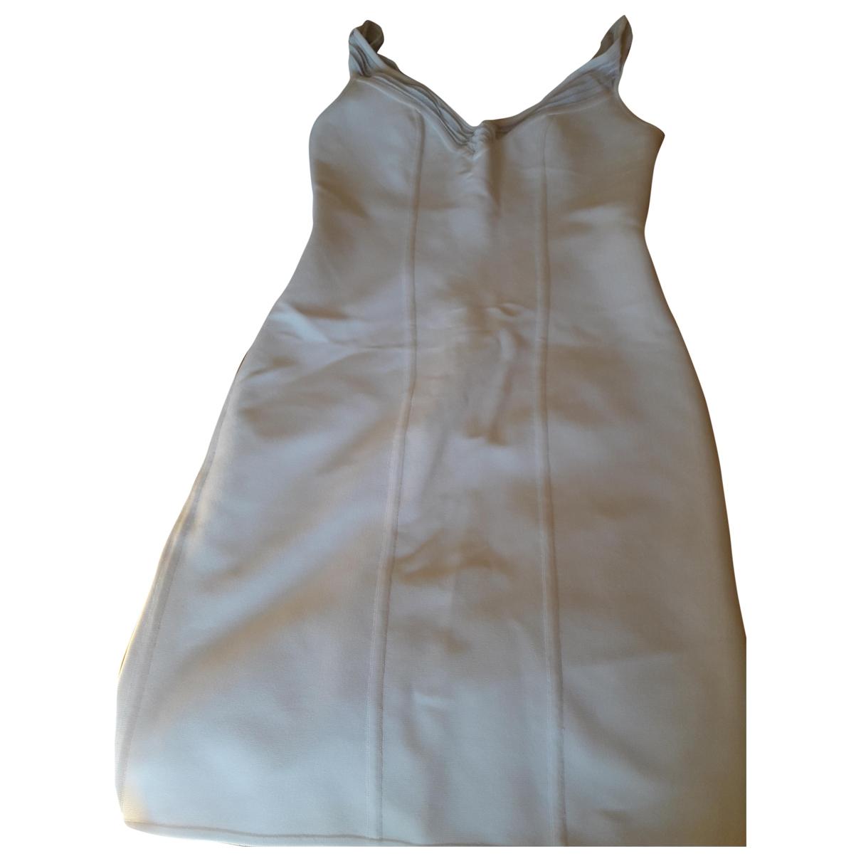 Herve Leger \N Kleid in  Weiss Polyester