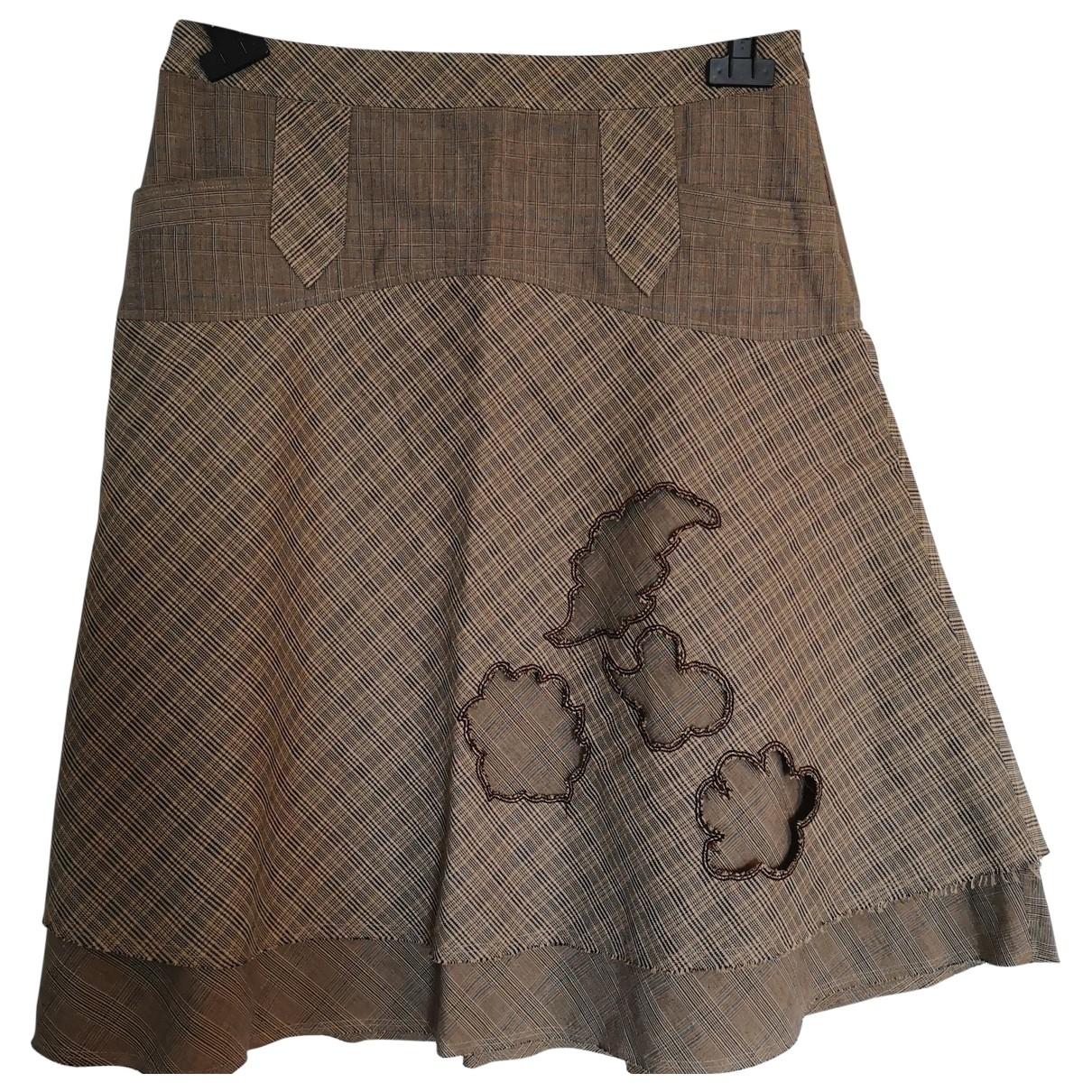 Kenzo \N Beige Linen skirt for Women 40 FR