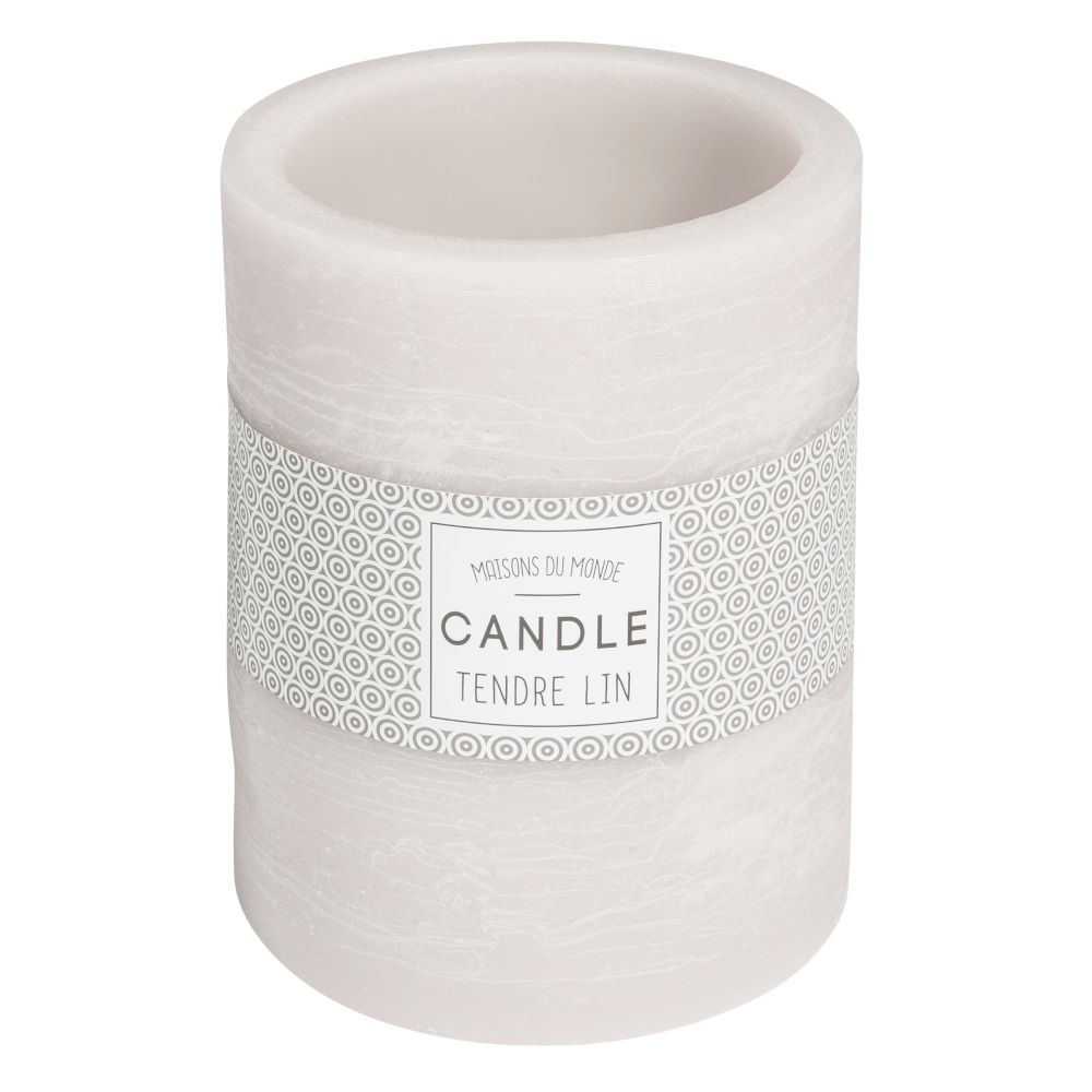 Kerzenlaterne grau H 12 cm