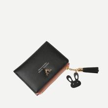 Brieftasche mit Buchstaben Muster und Quasten Dekor