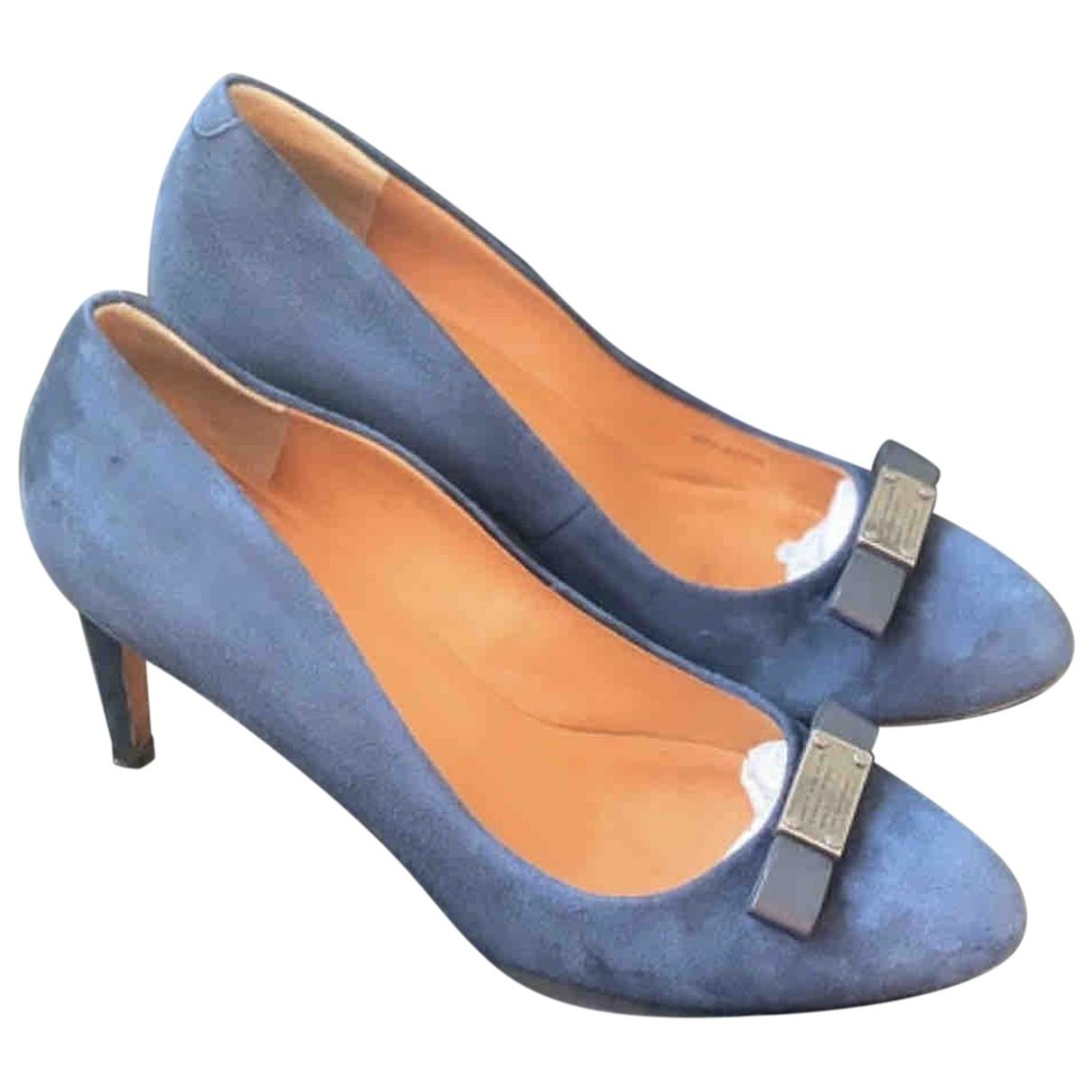 Marc By Marc Jacobs N Blue Suede Heels for Women 37.5 EU