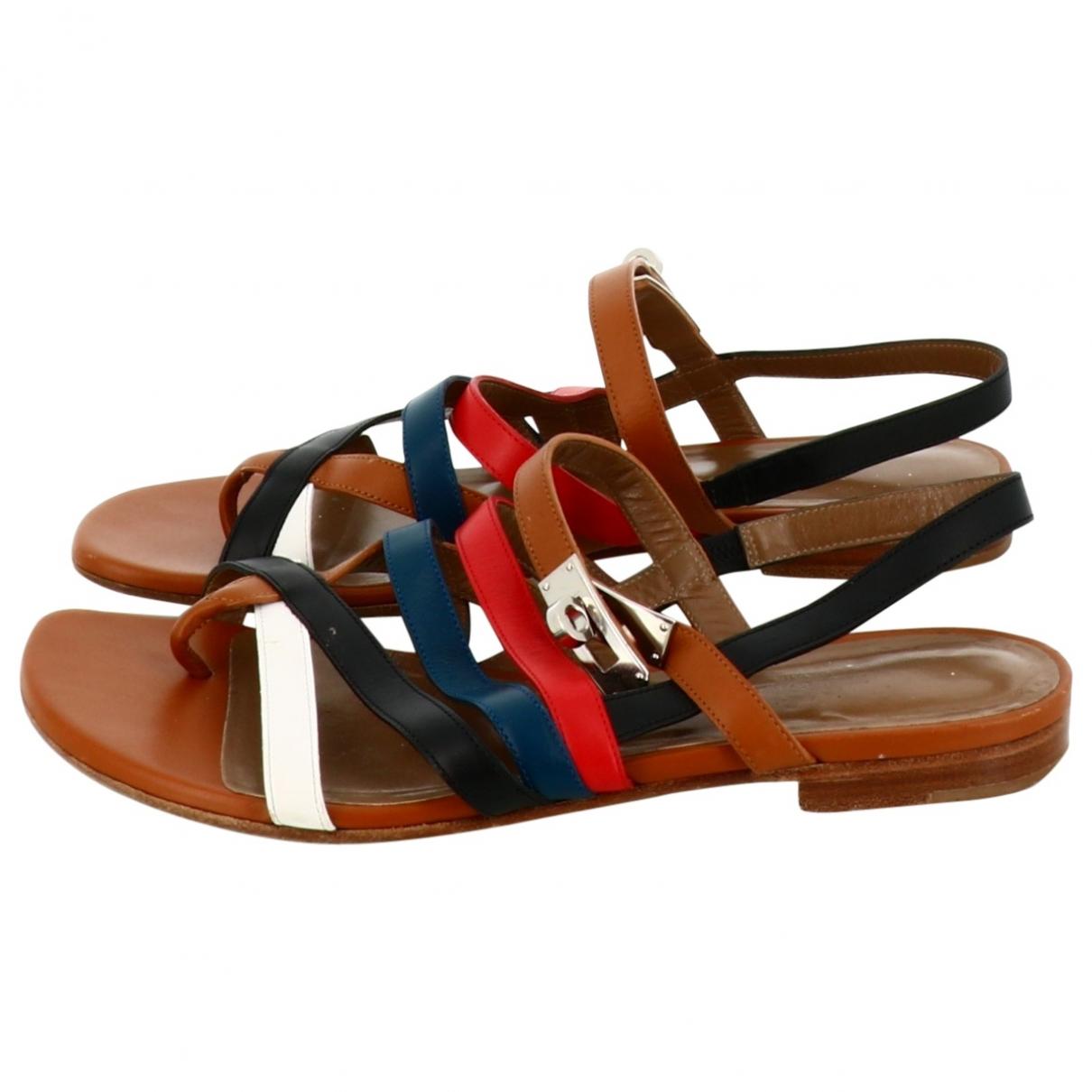 Hermès \N Multicolour Leather Sandals for Women 38 EU