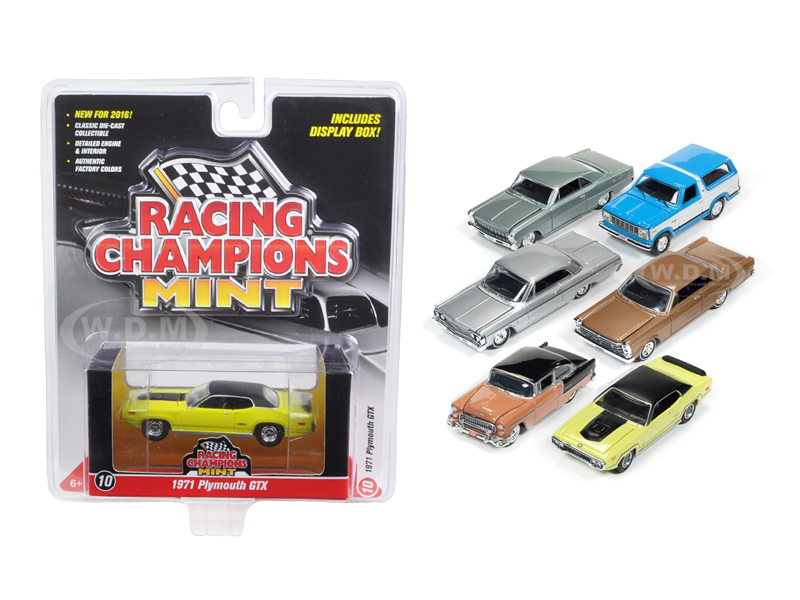 Mint Release 2 Set B Set of 6 cars 1/64 Diecast Model Cars by Racing Champions