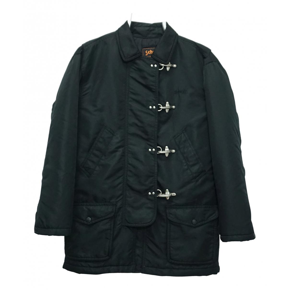 Schott - Manteau   pour homme - noir