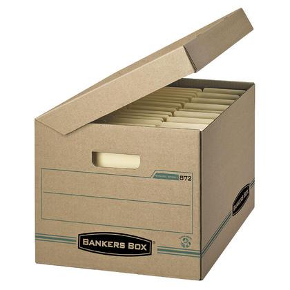 Bankers Box@ Enviro Stor taille lettre/l egale Droit de base Couvercle boite de rangement, 5/paquet
