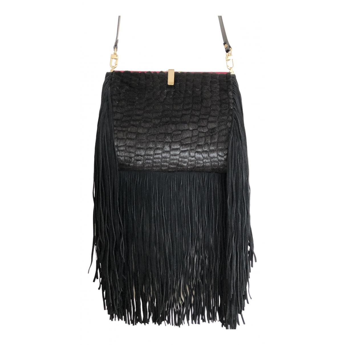 Otilia Flonta - Pochette   pour femme en cuir - noir