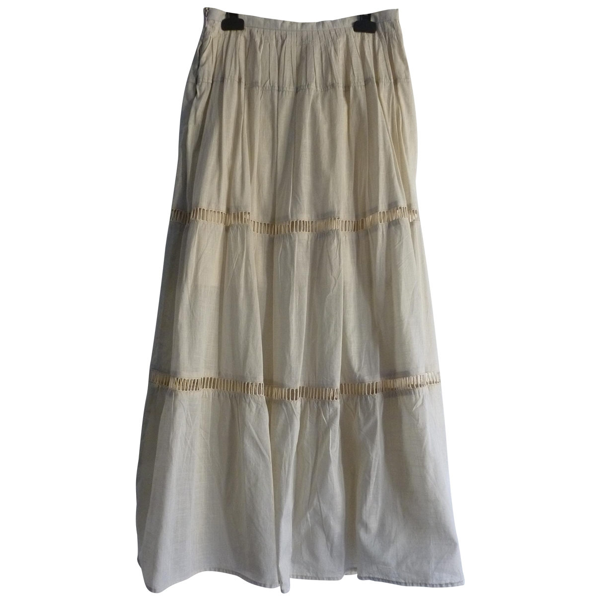 Non Signé / Unsigned \N Beige Cotton skirt for Women 40 IT