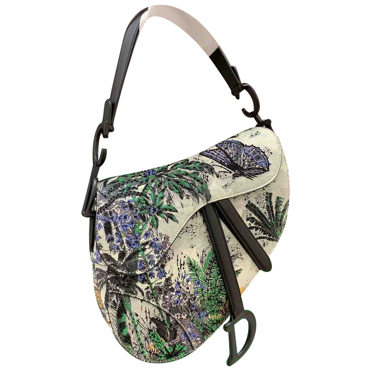 Dior Saddle Handtasche in  Bunt Leder