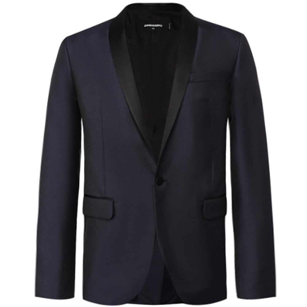 DSquared2 Navy Classic Blazer Colour: NAVY, Size: EXTRA EXTRA LARGE