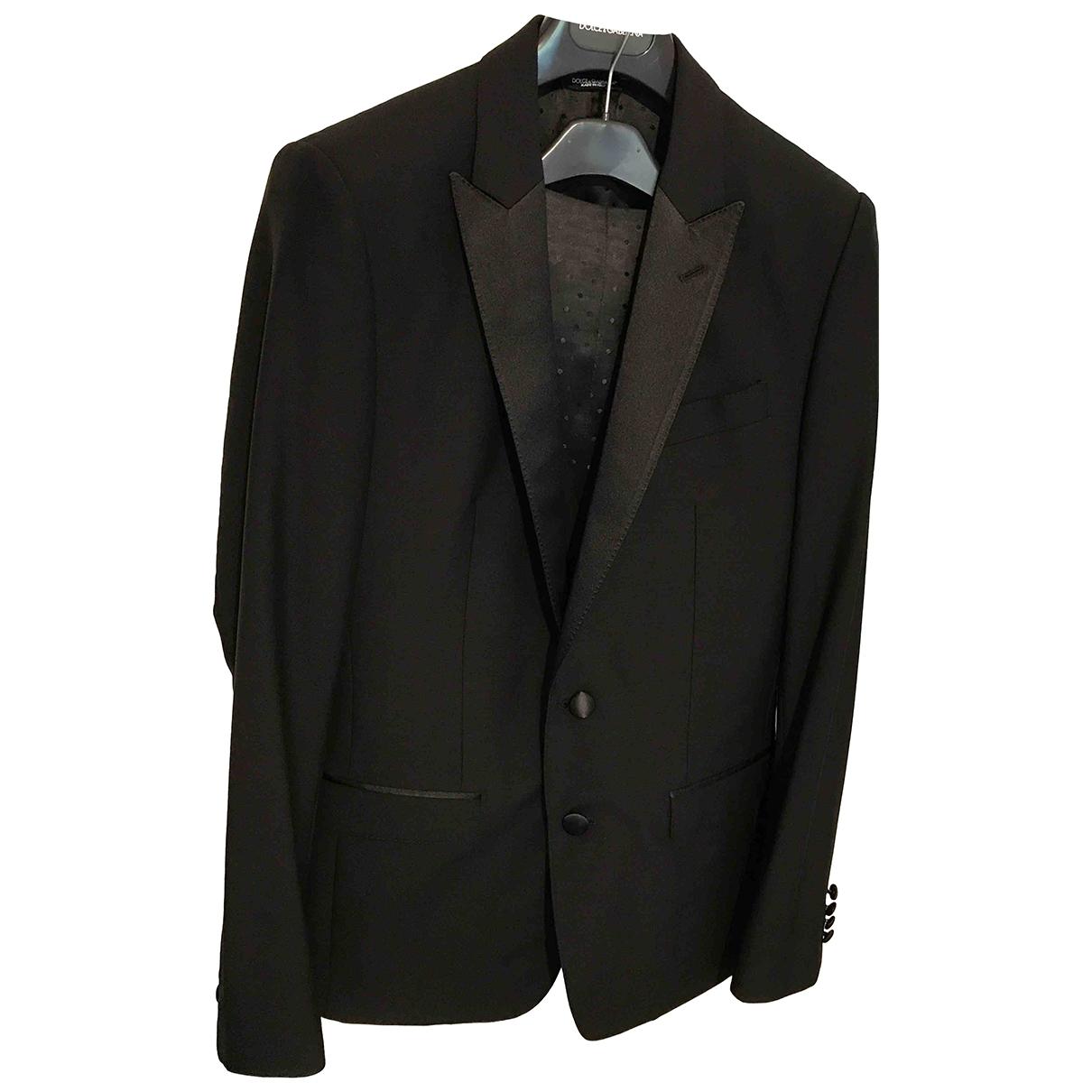 Dolce & Gabbana \N Anzuege in  Schwarz Wolle
