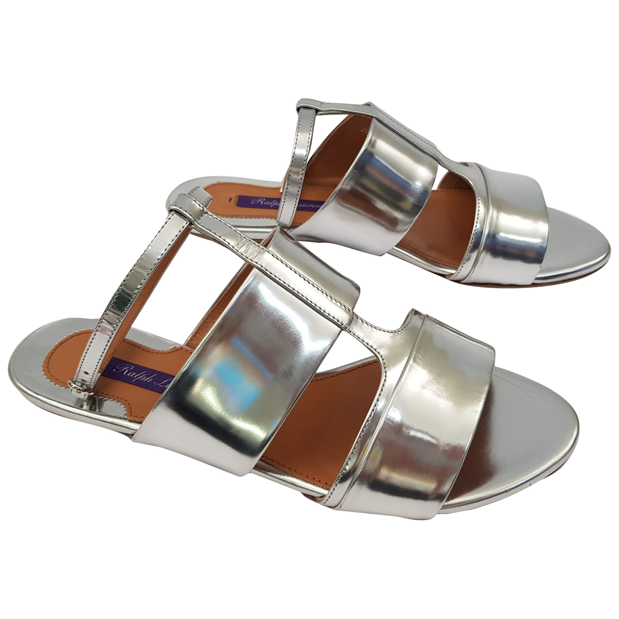 Ralph Lauren \N Silver Leather Sandals for Women 35.5 IT