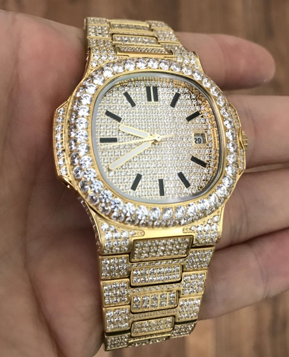 Best Quality Modern CZ Stainless Steel Watch Bling Bling