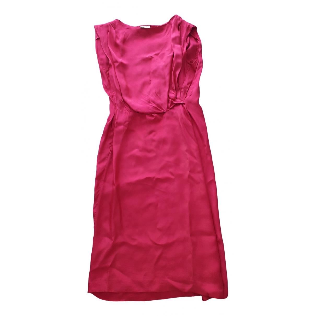 Dries Van Noten \N Kleid in  Rosa Synthetik