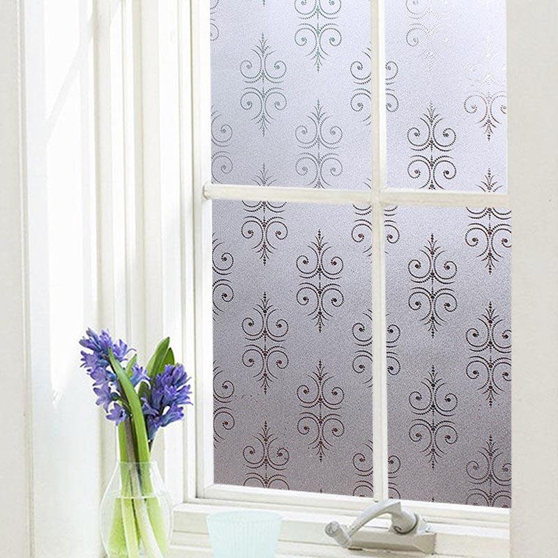 Classic Pattern Window Film No-glue Glass Static Sticker