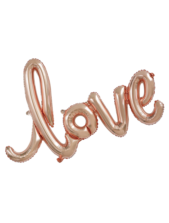 Folienballon love rose/gold
