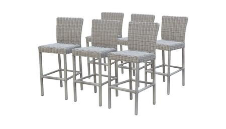 Coast Collection COAST-TKC338b-BSWB-3x 6 Barstools with