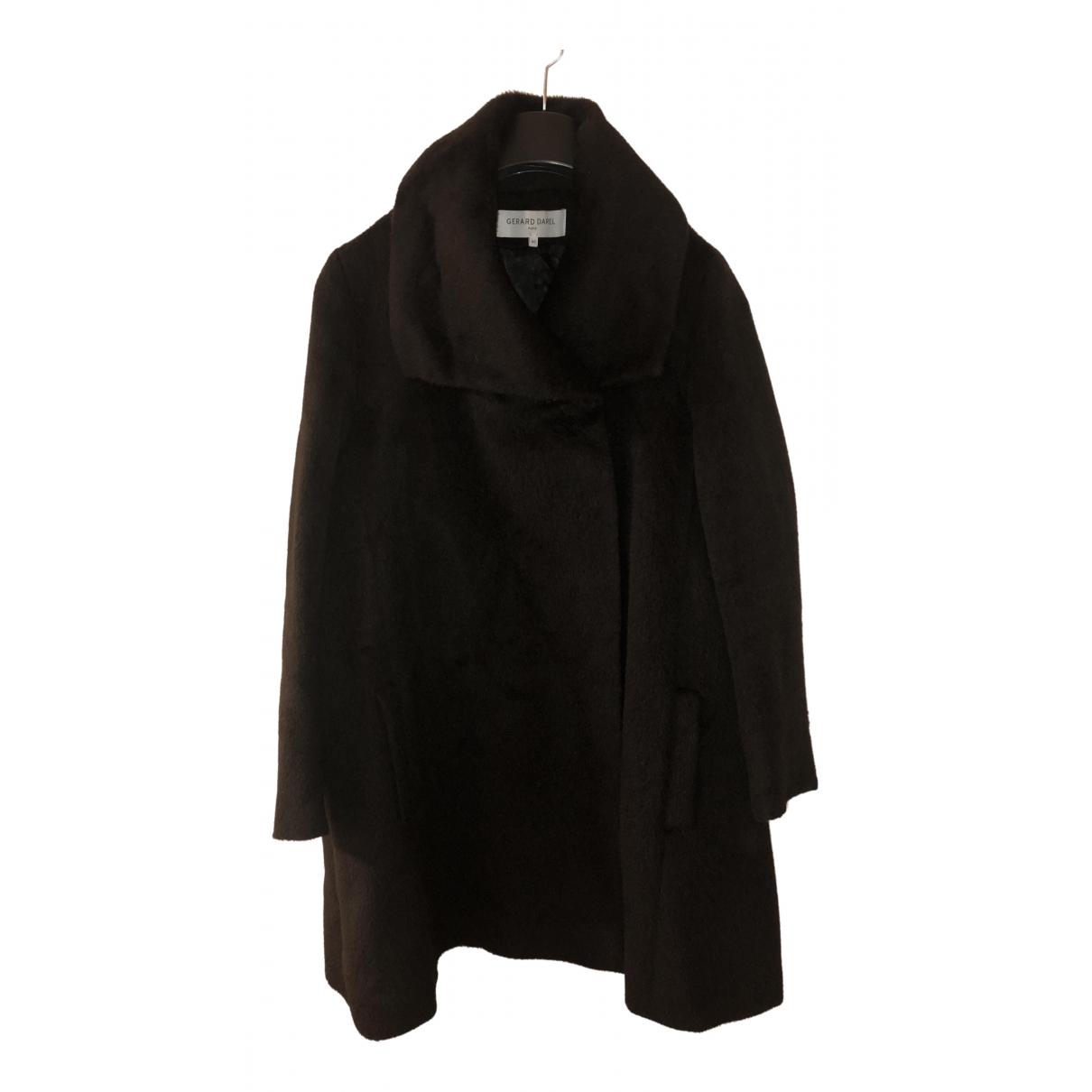 Gerard Darel - Manteau   pour femme en laine - marron