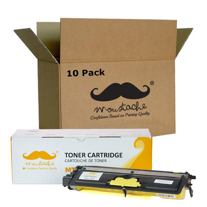 Compatible Brother TN210Y - TN210 Yellow Toner Cartridge by Moustache, 10 pack