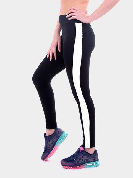 Yoins Yoga Leggings With Contrast Side Panel