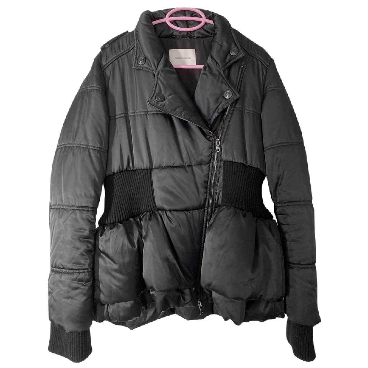 Pierre Balmain N Black coat for Women 42 IT