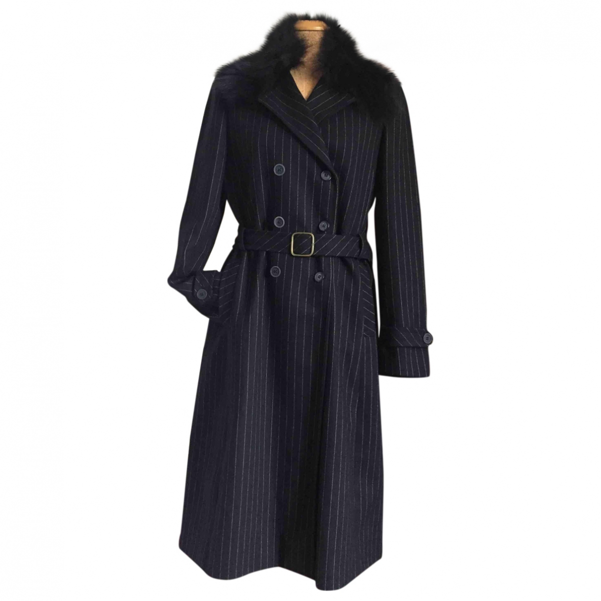 Non Signé / Unsigned \N Anthracite Wool coat for Women 44 IT