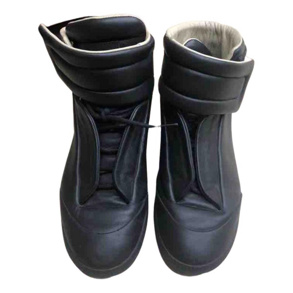 Maison Martin Margiela \N Sneakers in  Schwarz Leder