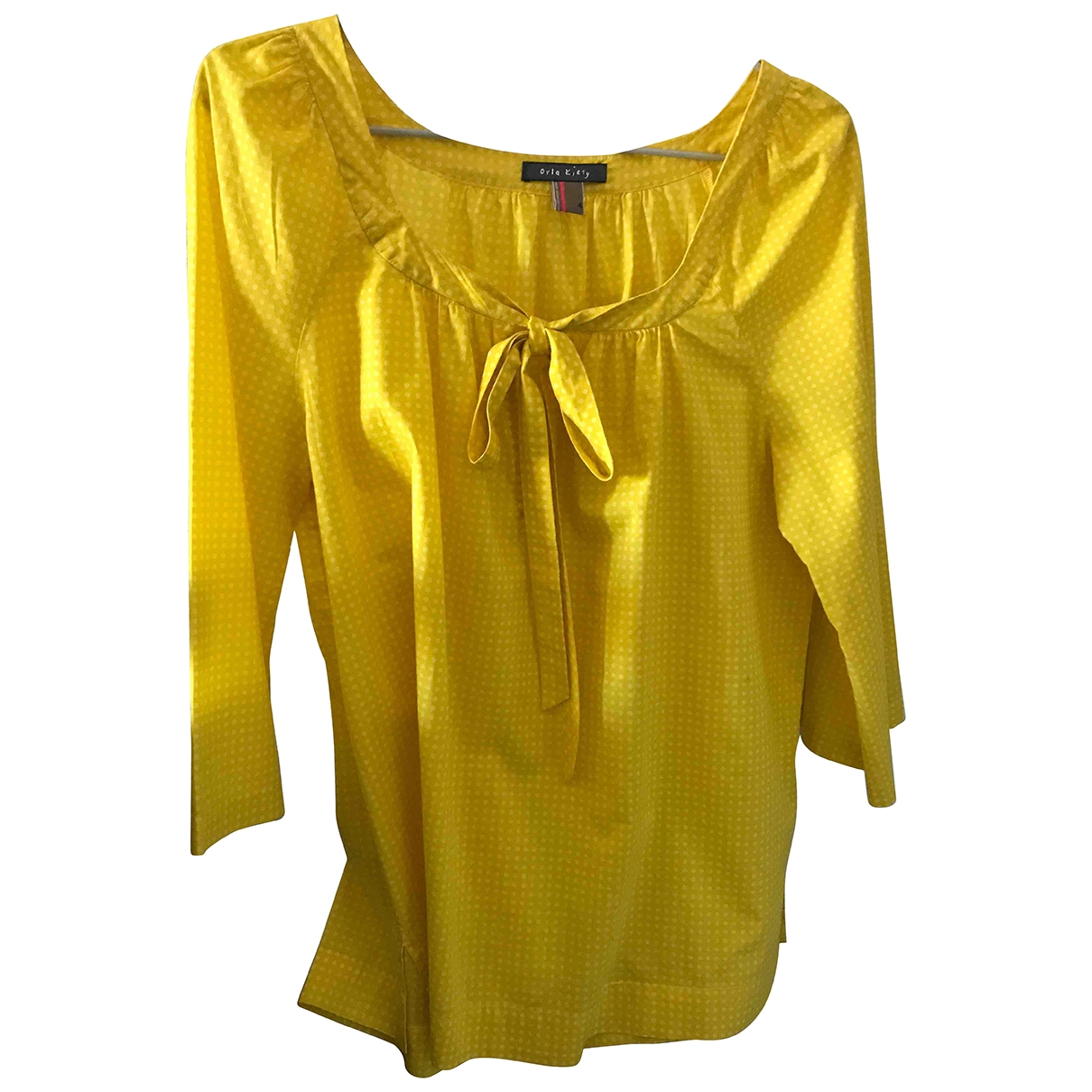 Orla Kiely - Top   pour femme en coton - jaune