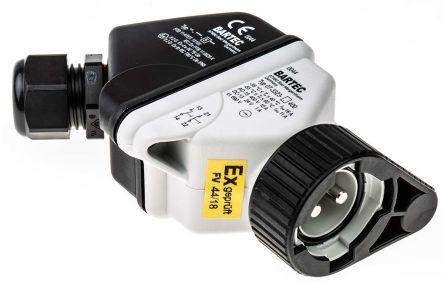Bartec , ComEx Non-illuminated Black Round Push Button Module, NO/NC