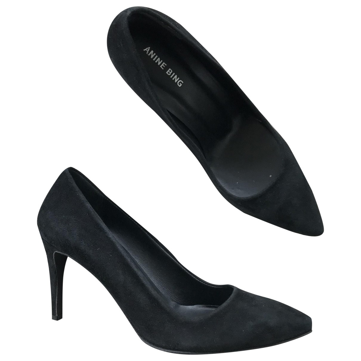 Anine Bing \N Pumps in  Schwarz Veloursleder