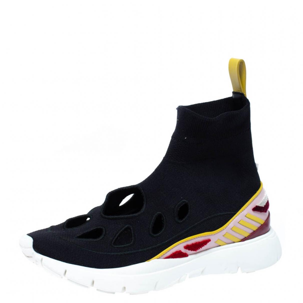 Autre Marque \N Sneakers in  Schwarz Leder