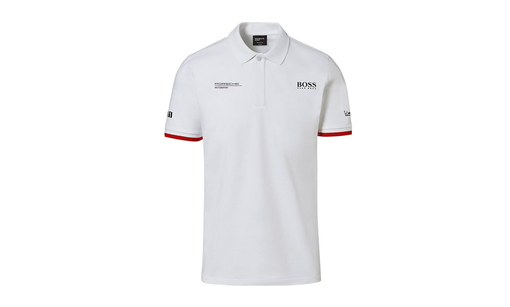 Porsche Driver Selection Motorsport Collection Men's White Polo Shirt Small