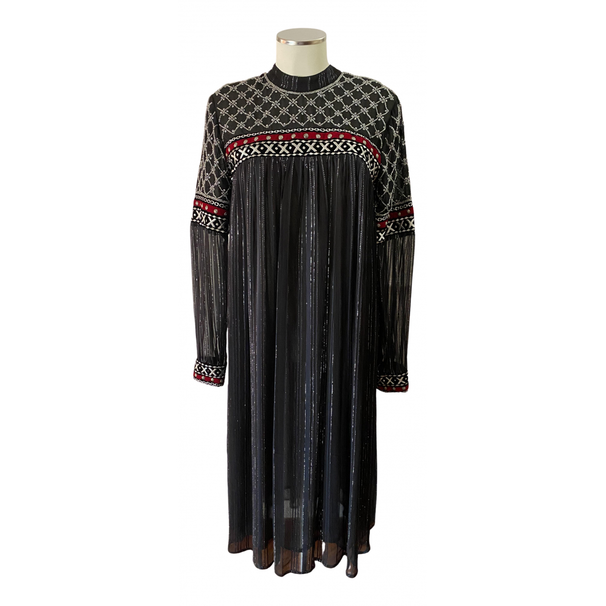 Dodo Bar Or \N Kleid in  Schwarz Seide
