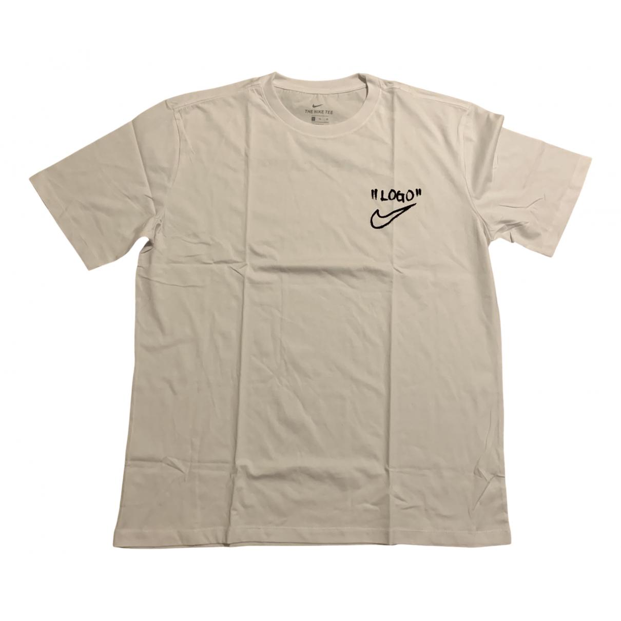 Nike X Off-white - Tee shirts   pour homme en coton - blanc