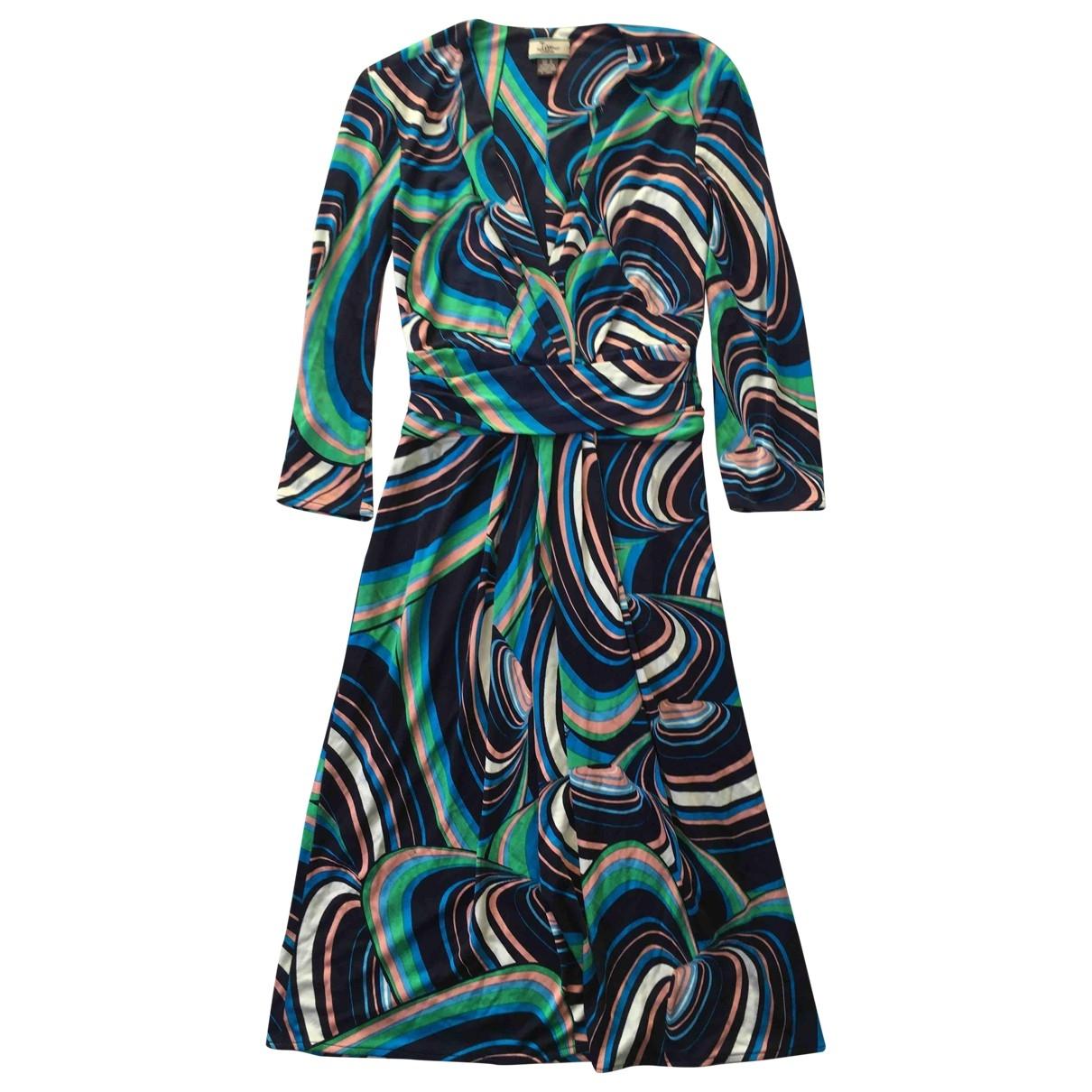 Issa - Robe   pour femme en soie - bleu