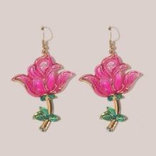 Flower Shaped Drop Earrings