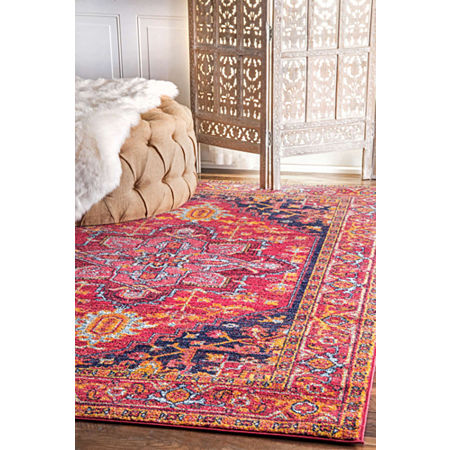 nuLoom Fancy Persian Vonda Rug, One Size , Pink