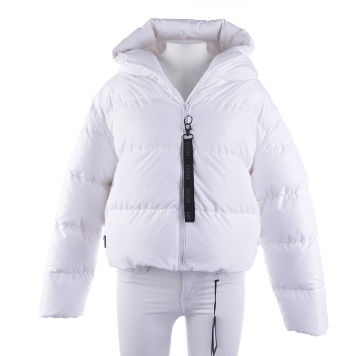 Non Signe / Unsigned \N Jacke in  Weiss Synthetik