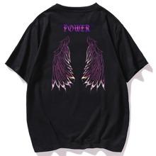 Camiseta con estampado de letra y ala