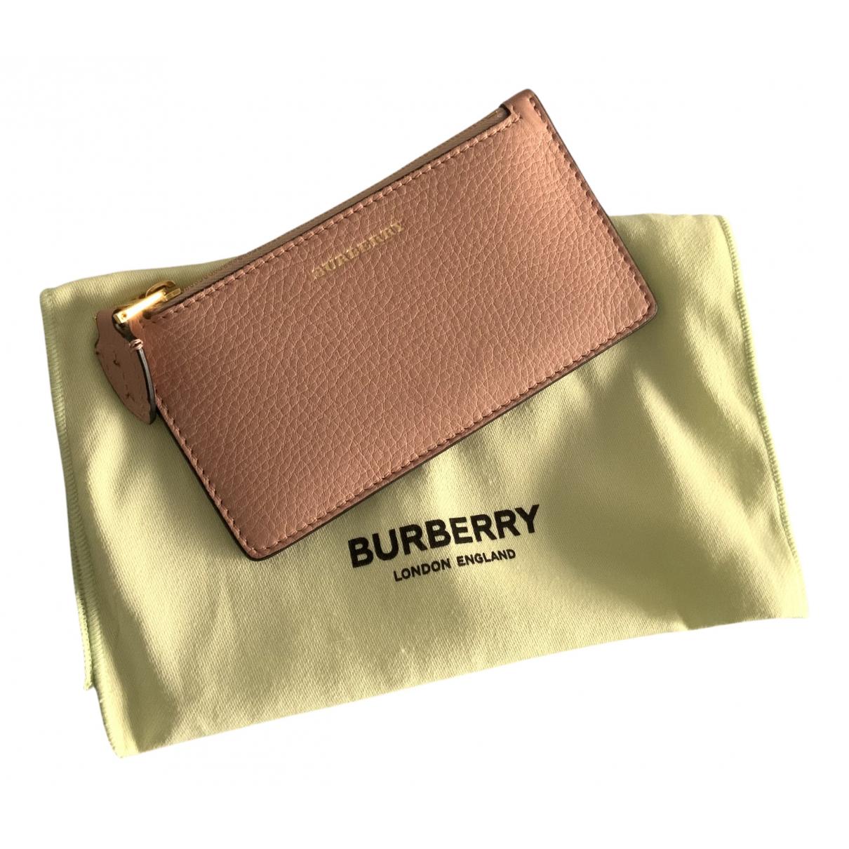 Burberry \N Portemonnaie in  Rosa Leder