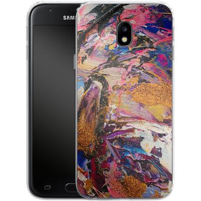 Samsung Galaxy J3 (2017) Silikon Handyhuelle - Brush Swirl V von Stella Lightheart