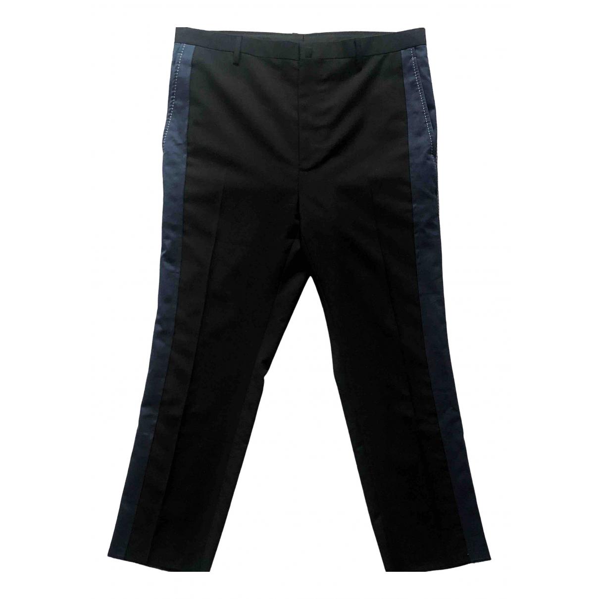 Lanvin \N Black Wool Trousers for Men 48 IT