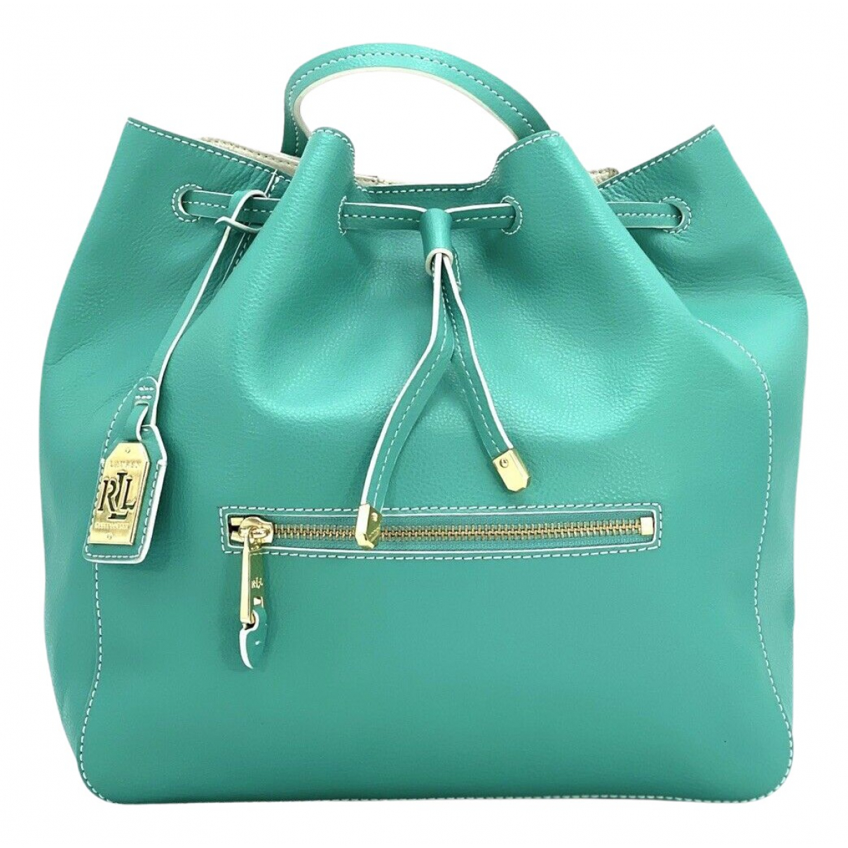Polo Ralph Lauren N Turquoise Leather backpack for Women N